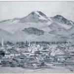 355 - Césarée, vue générale de la ville dominée par le mont Argée (photo Chinarar n°11, p. 127).